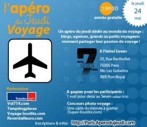 L'Apéro Voyage le 24 mai à Paris!
