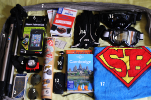 Ma valise (de geek) pour le Cambodge