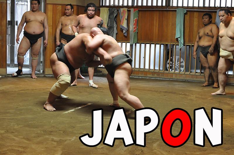 Les sumos au Japon